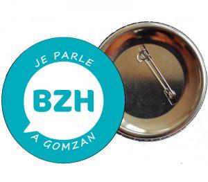 badj badge je parle breton - brezhoneg a gomzan