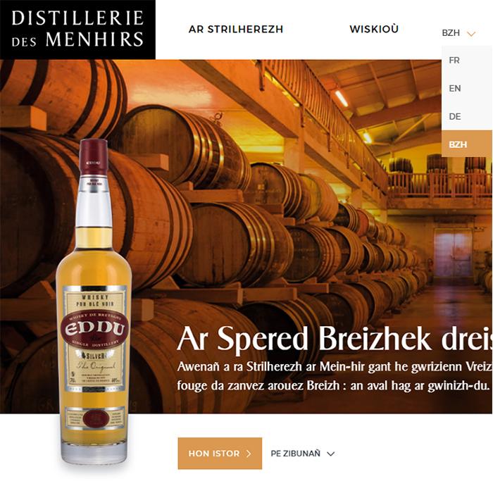 Lec'hienn internet Distillerie des Menhirs