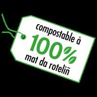 picto compostable à 100% mat da roteliñ